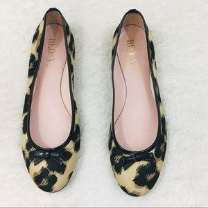 RED Valentino Leopard Print Ballerina Flats